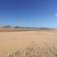 Costa Calma, quand la mer s'est retirée