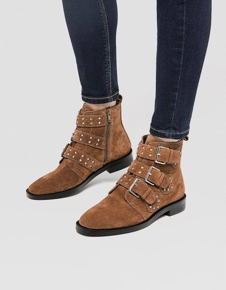 bottines marron stradivarius