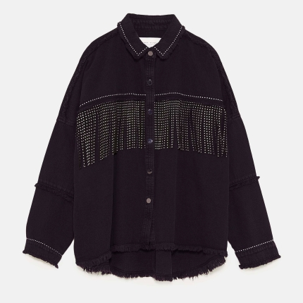 veste franges rock Zara