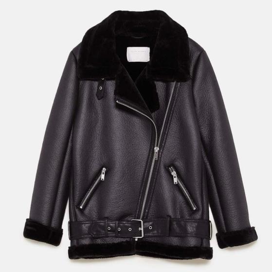 veste motard bimatière Zara